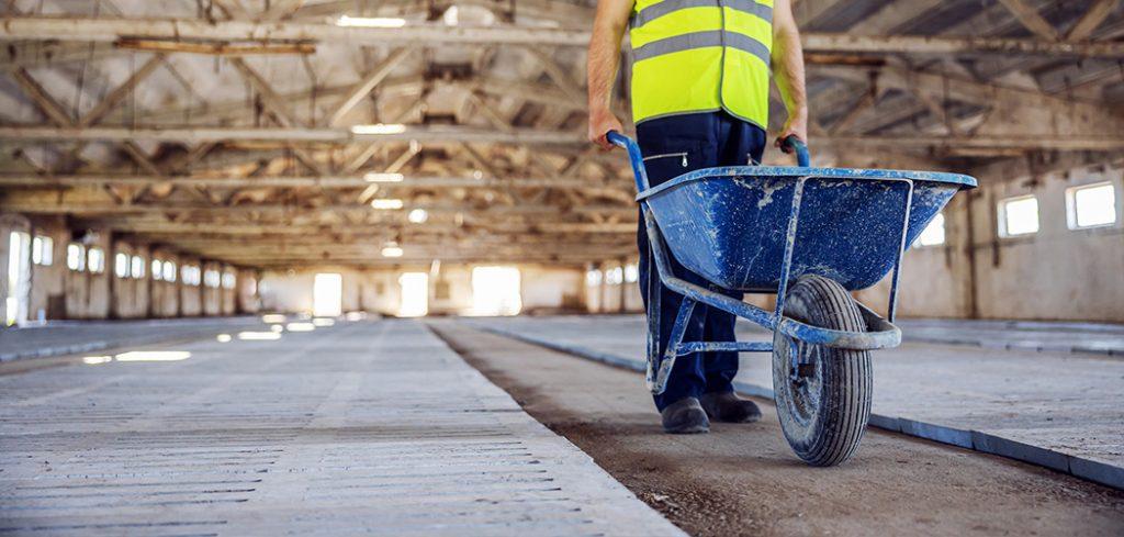 Heavy Duty Construction Wheelbarrow Featured