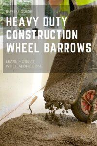 Heavy Duty Construction Wheelbarrow pin