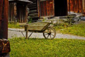 ancient wheelbarrow